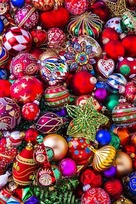 Embellishments Photograph - Abundance Of Christmas Ornaments  by Garry Gay