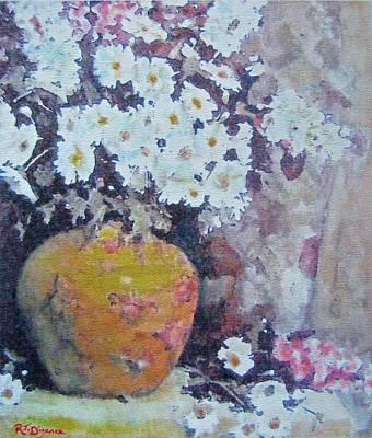 Painting - Abundance Of Daisies by Richard James Digance