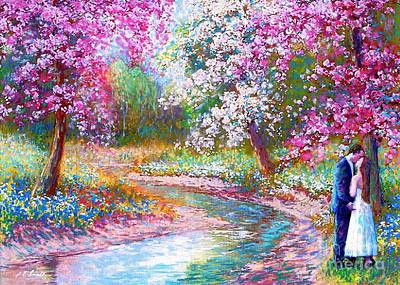 Pink Cards Painting - Abundant Love by Jane Small