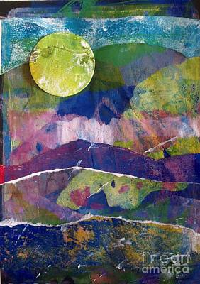 Painting - Abundant Moon by Corina  Stupu Thomas