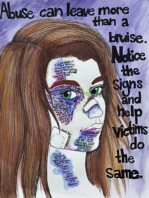 Financial Mixed Media - Abuse Can Leave More Than A Bruise by Marla Edwards