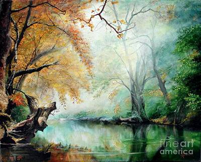 Art Print featuring the painting Abyss by Sorin Apostolescu