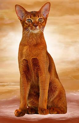 Abyssinian Cat Sorrel Color Art Print