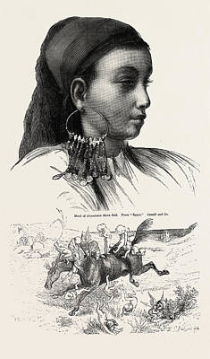 Slaves Drawing - Abyssinian Slave Girl by English School