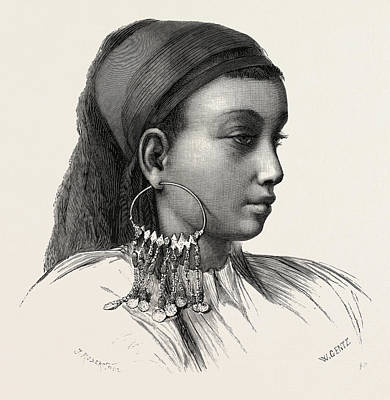 Slaves Drawing - Abyssinian Slave-girl by Litz Collection