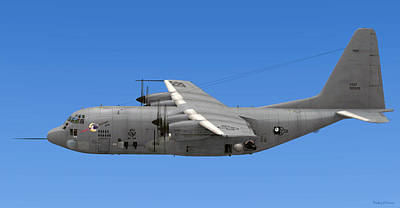 Digital Art - Ac-130 Gunship Spectre by Walter Colvin