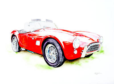 Motorsport Drawing - Ac Cobra by Isabel Salvador