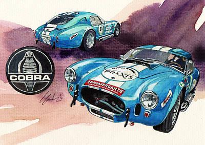 Roadster Painting - Ac Cobra by Yoshiharu Miyakawa