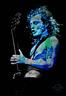 Digital Art - Ac/dc - Angus Young by Absinthe Art By Michelle LeAnn Scott