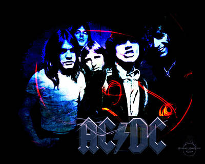 Digital Art - Ac/dc - Rock by Absinthe Art By Michelle LeAnn Scott
