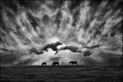 Silver Turquoise Photograph - Against An Angry Sky. by Adrian Campfield
