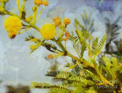 Art Print featuring the painting Acacia by Kai Saarto