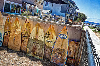 Surfboard Photograph - Acacia Street by Ann Patterson