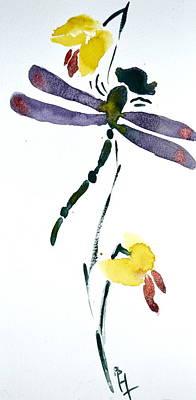 Odonata Painting - Acacion Dragonfly by Beverley Harper Tinsley