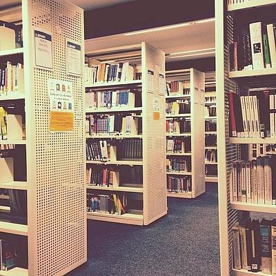 Photograph - Academia Before Christmas... #library by Chris Usher