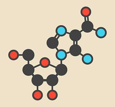Acadesine Molecule Print by Molekuul