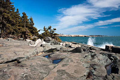 Photograph - Acadia Coast At Schoodic Point 4645 by Brent L Ander
