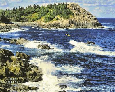 Digital Art - Acadia Encounter by Richard Stevens