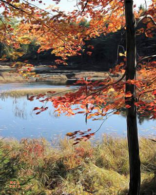 Digital Art - Acadia Fall by Richard Stevens