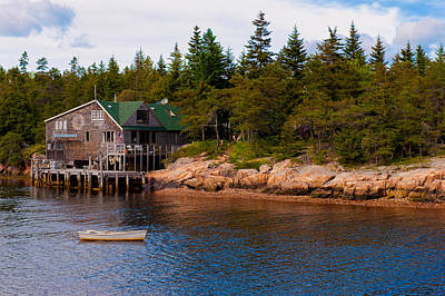 Acadia Fishing Village Art Print