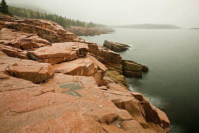 Photograph - Acadia Fog Near Monument Cove 4335 by Brent L Ander