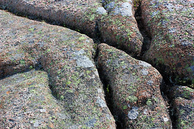 Photograph - Acadia Granite 19 by Mary Bedy