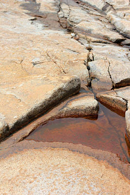 Photograph - Acadia Granite 6 by Mary Bedy