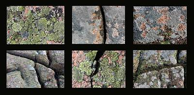 Photograph - Acadia Granite Collage 2 by Mary Bedy