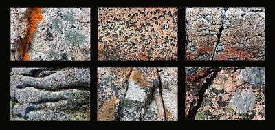 Photograph - Acadia Granite Collage by Mary Bedy