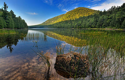 Carriage Road Photograph - Acadia National Park-bubbles Pond by Thomas Schoeller