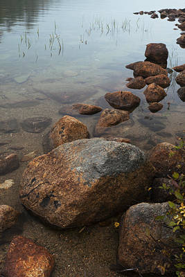 Photograph - Acadia National Park Rocks In Lake Maine Img 6452 by Greg Kluempers