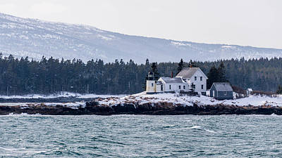 Acadia National Park Schoodic Lighthouse Art Print