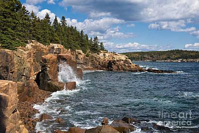 Thomas Kinkade Royalty Free Images - Acadia National Park Shoreline Royalty-Free Image by David Arment