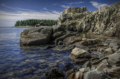 Acadia National Park Shoreline Rock Formations Art Print by Randall Nyhof