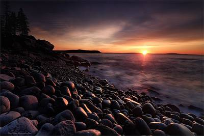 Photograph - Acadia National Park  Sunrise by Daniel Behm