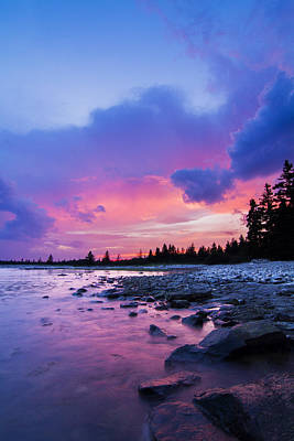 Laval Photograph - Acadia National Park Sunset by Mircea Costina Photography
