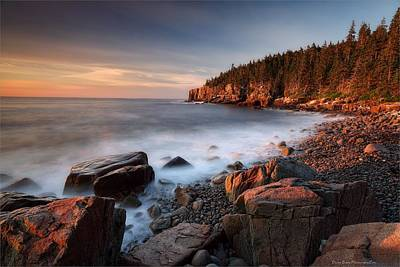 Photograph - Acadia Otter Cliffs by Daniel Behm