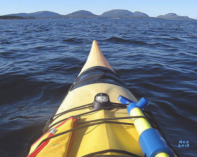 Acadia Sea Kayaking Art Print by Richard Stevens