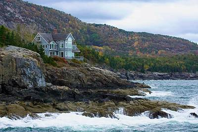 Photograph - Acadia Seaside Mansion by Stuart Litoff