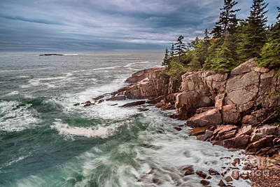 Photograph - Acadia Storm Waves by Susan Cole Kelly