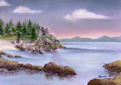 Acadia Sunrise Schooner Head Art Print by Stephanie Woerner