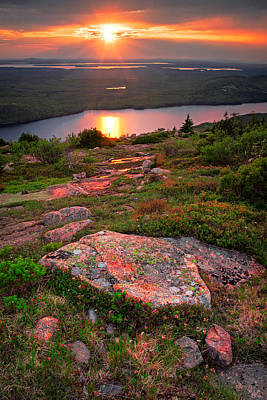 Photograph - Acadia Sunset 2 by Emmanuel Panagiotakis