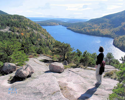 Digital Art - Acadia View by Richard Stevens