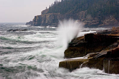 Photograph - Acadia Waves At Otter Point 3217 by Brent L Ander
