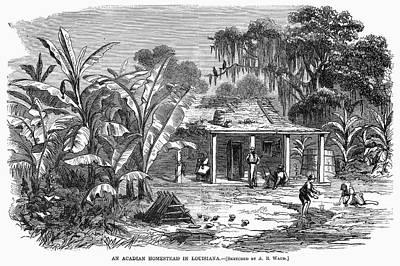 Acadian Painting - Acadian Homestead, 1867 by Granger