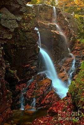 Photograph - Avalanche Cascades - Franconia Notch New Hampshire by Adam Jewell
