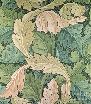Acanthus Wallpaper Design Art Print by William Morris