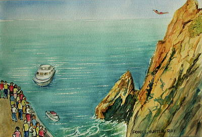Acapulco Cliff Diver Art Print