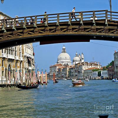 Venedig Photograph - Accademia Bridge In Venice Italy by Heiko Koehrer-Wagner