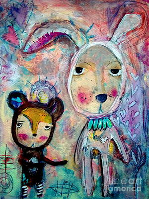 Brown Bear Mixed Media - Accept Me by Carla MacDiarmid